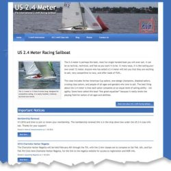 US 2.4 Meter Racing Sailboat