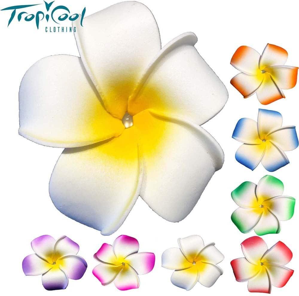 Hair Clip Frangipani Flowers Hawaiian Wedding Tropicool