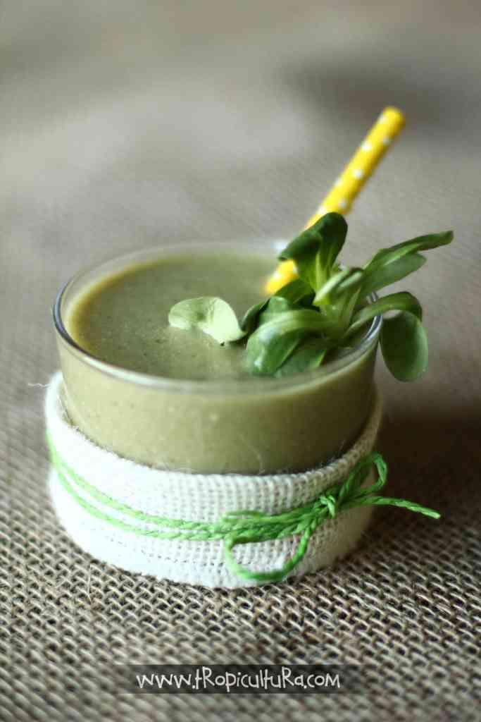 smoothie verde de mango ecológico 01