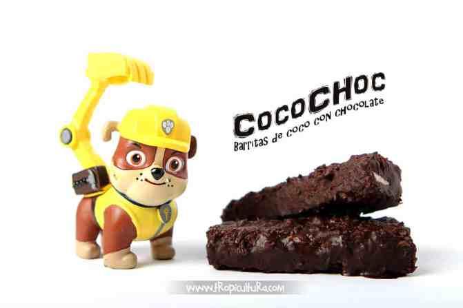 Barritas de coco con chocolate Cocochoc