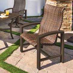 Woven Outdoor Chair Comtek Massage Lakeside Furniture Tropitone Patio Dining