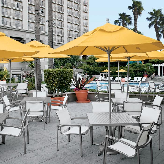 South Beach Relaxed Sling  Beach Chairs  Tropitone