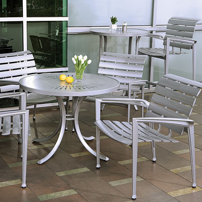outdoor aluminum chairs antique cane rocking chair veer cast tropitone furniture