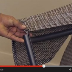 Deck Chair Sling Replacement Acapulco Nz Replace Tropitone How To A Relaxed Dining This Step By Guide Shows In