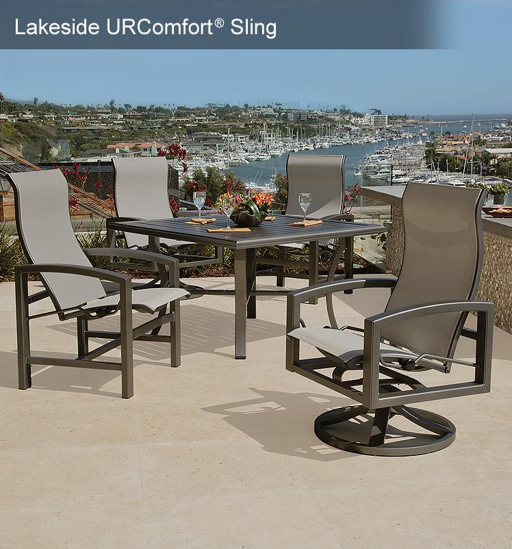 sling back patio chairs counter hight tropitone ® outdoor furniture