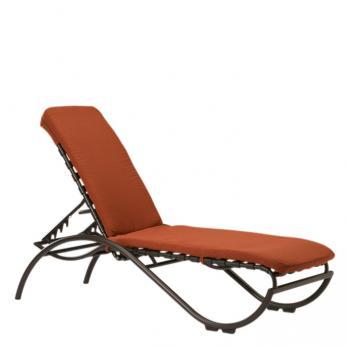 La Scala Strap Chaise Lounge Outdoor Patio Furniture Tropitone