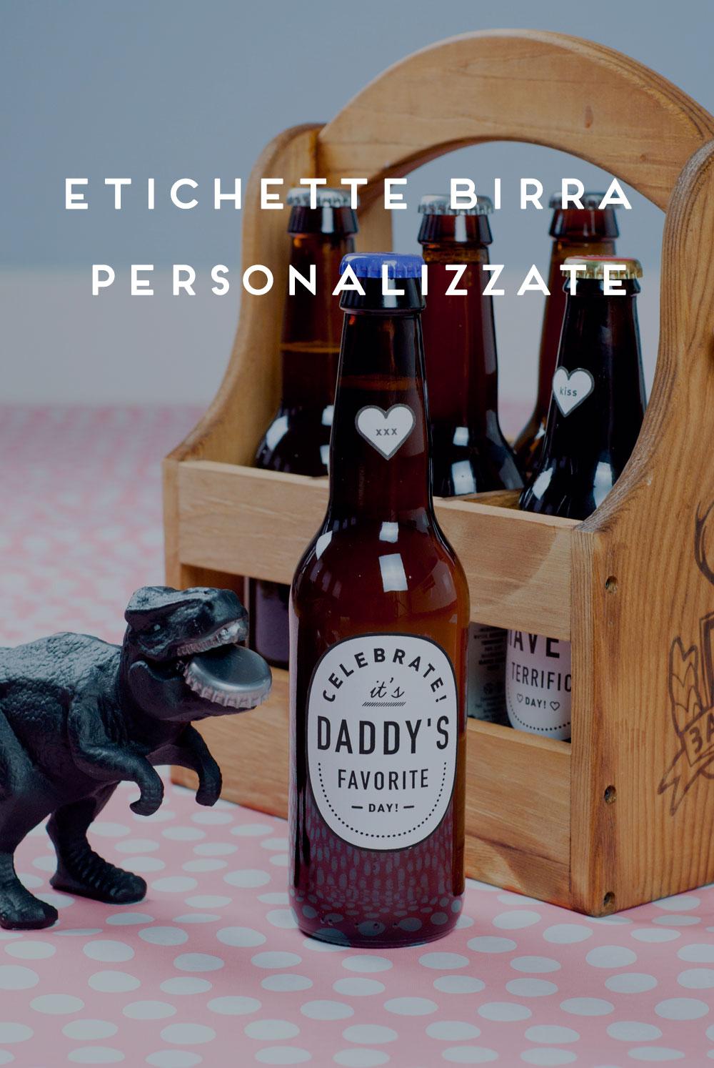 Festa Del Papà Etichette Di Birra Personalizzate