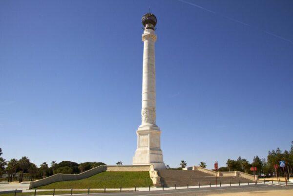 MONUMENTO A LOS DESCUBRIDORES JUNTO AL MONASTERIO DE LA RÁBIDA
