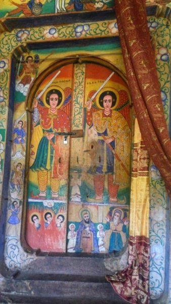 FRESCOS EN EL MONASTERIO AZEWA MARYAM, LAGO TANA