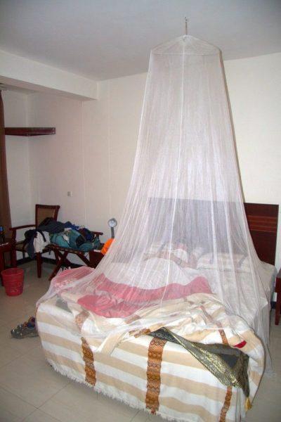 MOSQUITERA EN LA HABITACIÓN DEL BAHIR DAR HOTEL 2