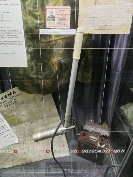 MEDIDOR DE RADIOACTIVIDAD EN EL MUSEO DE CHERNOBYL EN KIEV