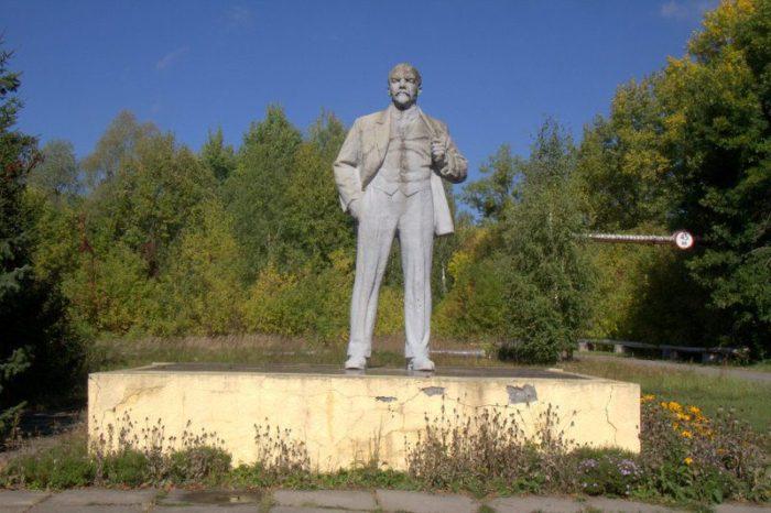 ESTATUA DE LENIN EN CHERNOBYL