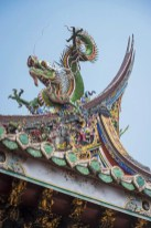 Decorative Stone Dragon in Baoan Temple Taipei