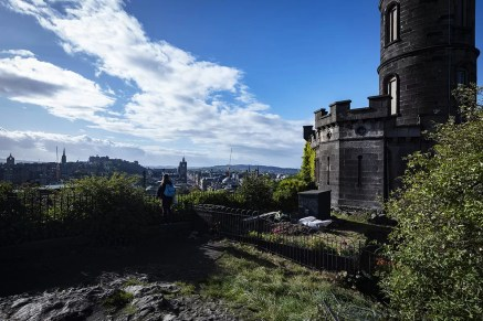 View from Calton Hill in Edinburgh