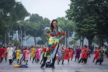 Publieke dansles in Hanoi