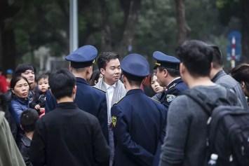 Politie in Hanoi