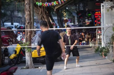 Voetvolleybal in Hanoi
