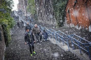 Wat te doen in Luik - Sneeuw op de Montagne De Bueren