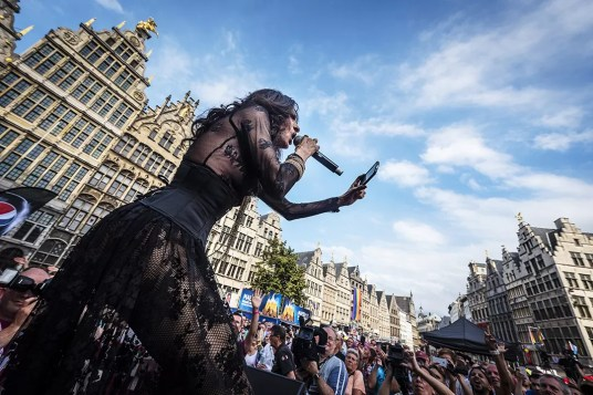 Dana International op de Antwerp Pride
