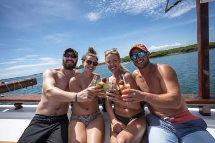 Feesten op een zeilschip in Aruba