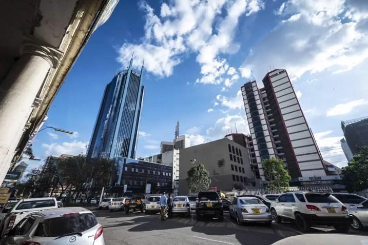 Wolkenkrabbers in Downtown Nairobi