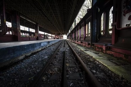 Tracks of the ghost metro in Charleroi