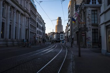 Corona in Antwerpen - Boerentoren