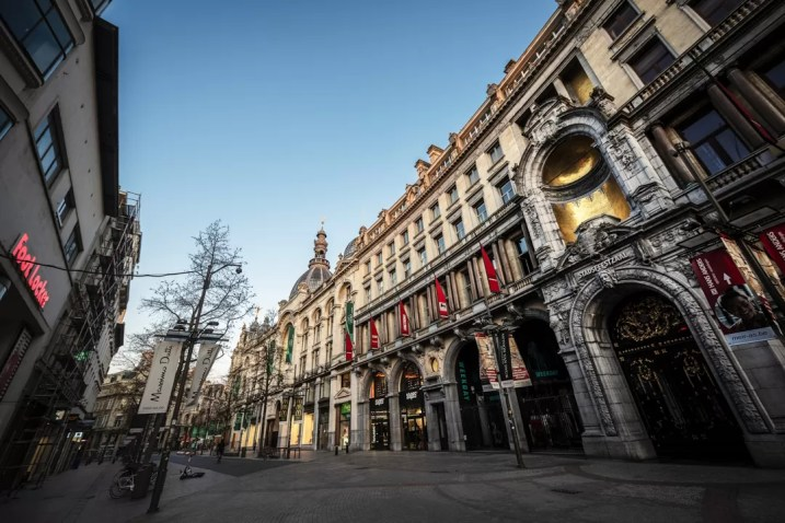 Corona in Antwerpen - Meir