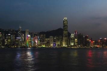 Hong Kong - Skyline gezien vanaf Kowloon