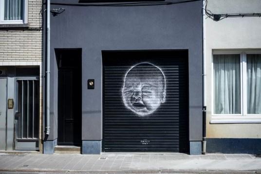 Street Art in Antwerpen - Posca Kid by The Empty Belly