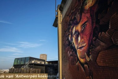 Street Art in Antwerpen - Wtfock by Smok
