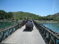 Albanie zeer slechte brug en wegen