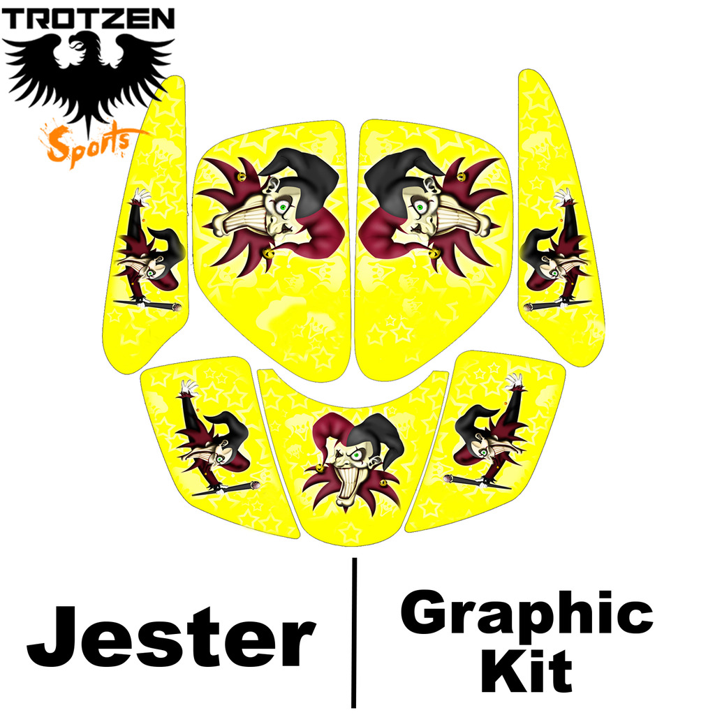 hight resolution of kawasaki kfx400 kfx 400 yellow jester graphic kits