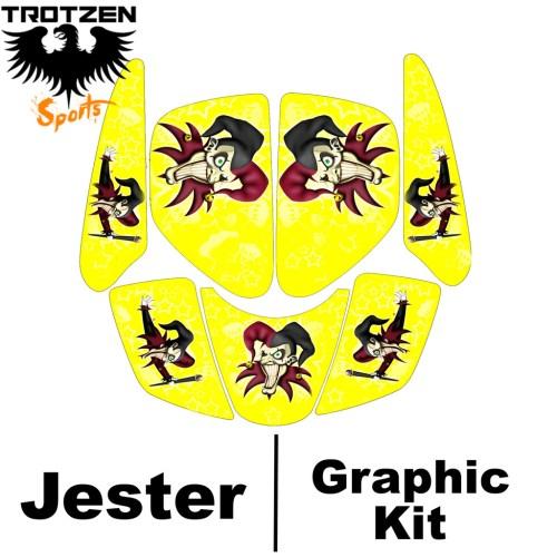 small resolution of kawasaki kfx400 kfx 400 yellow jester graphic kits