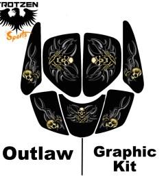 suzuki lt250r quadracer lt 250 r outlaw graphic kits [ 1024 x 1024 Pixel ]