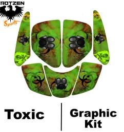 89 99 suzuki lt250r quadracer lt 250 r toxic graphic kits [ 1024 x 1024 Pixel ]