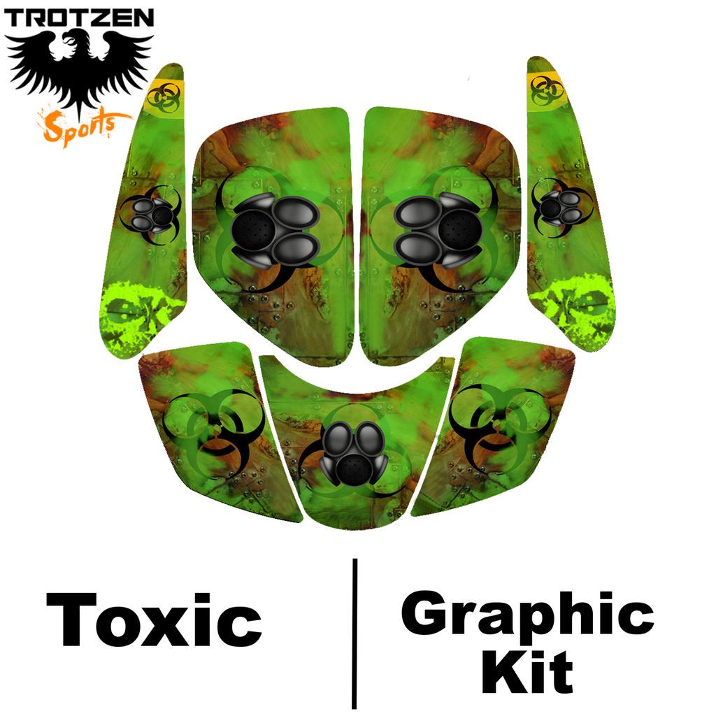 hight resolution of  89 99 suzuki lt250r quadracer lt 250 r toxic graphic kits