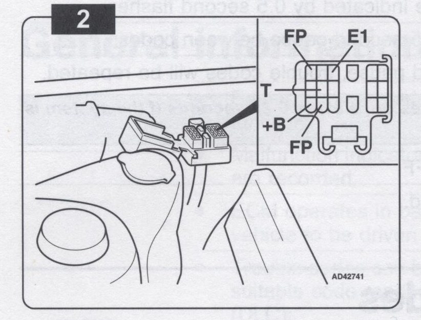 Toyota efi trouble code 5 for 5a engine