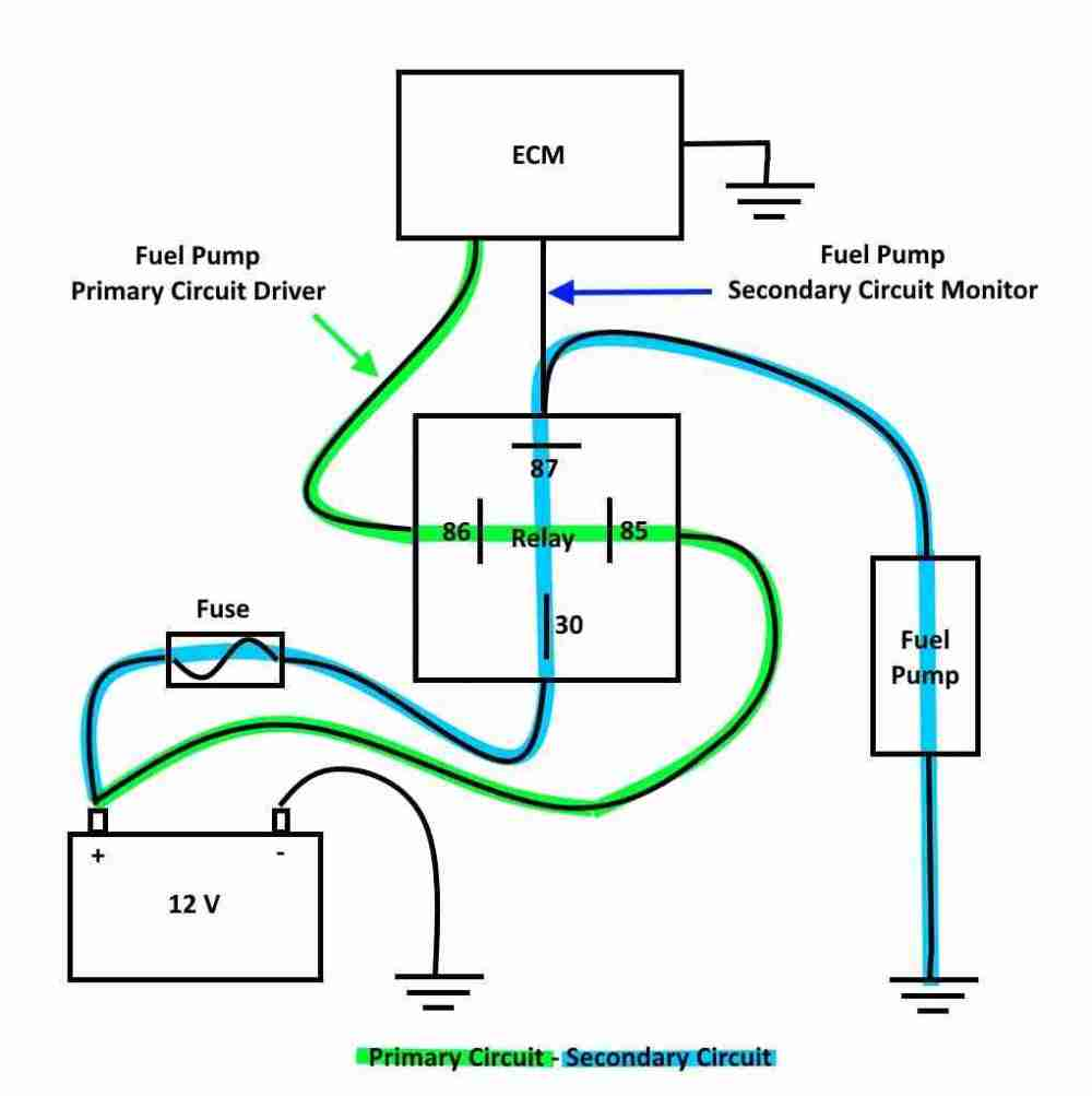 medium resolution of a general fuel pump relay and monitor circuit