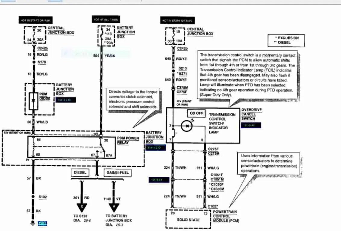 07 f150 transmission wiring diagram