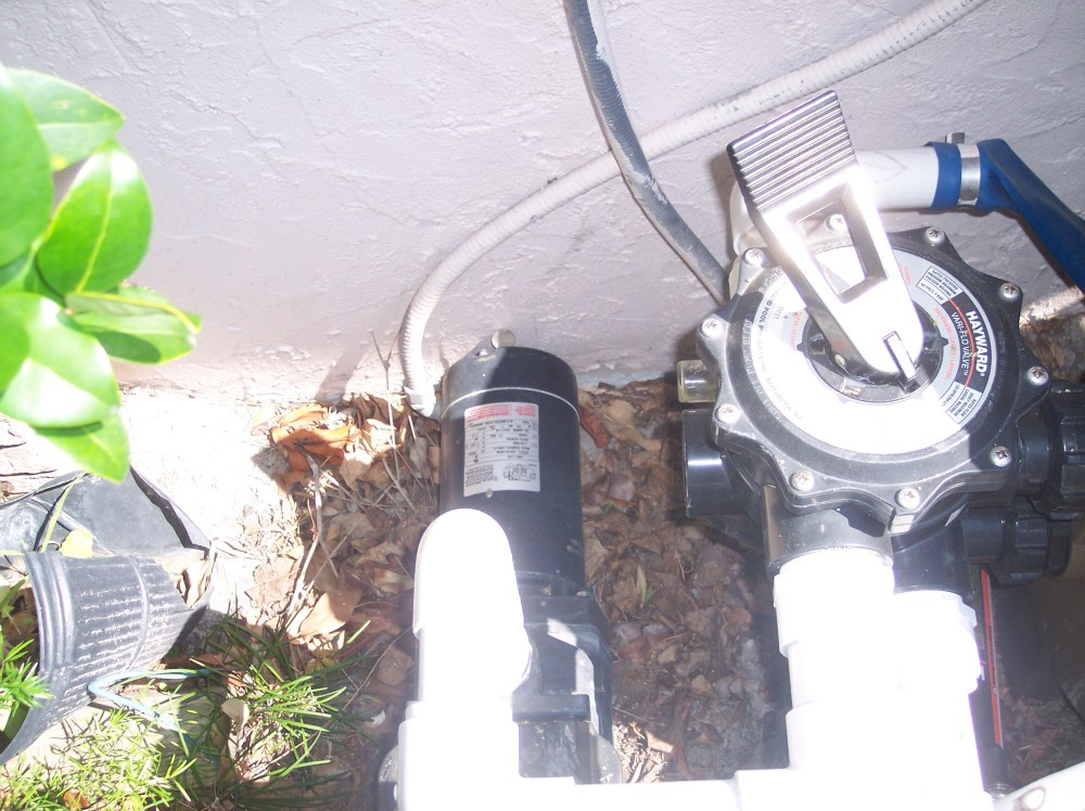 medium resolution of pump mounted too close to house