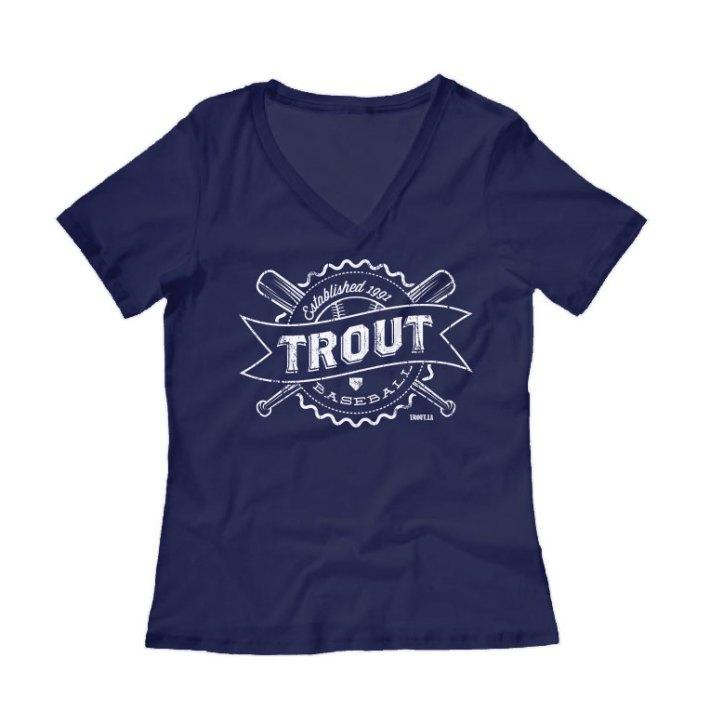 Trout Baseball Womens Shirt