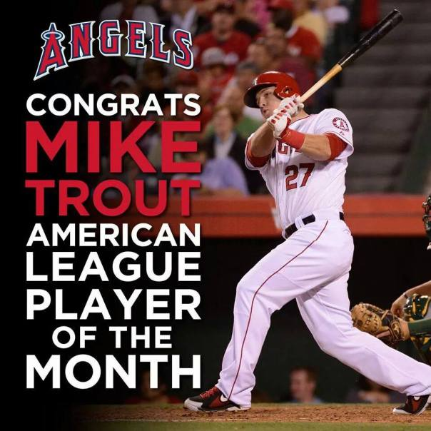 Mike Trout June Player of the Month