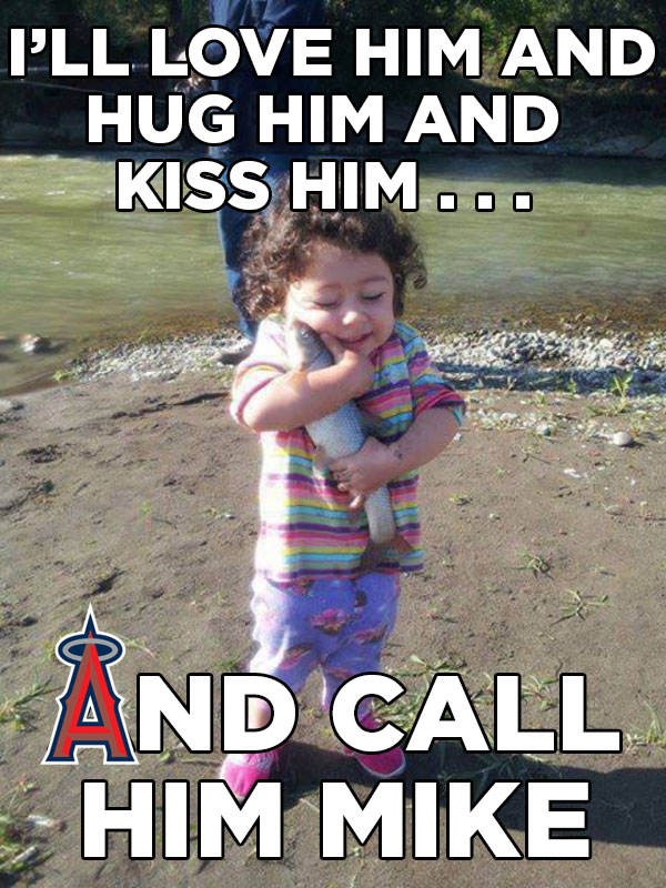 kiss-him-Mike Trout