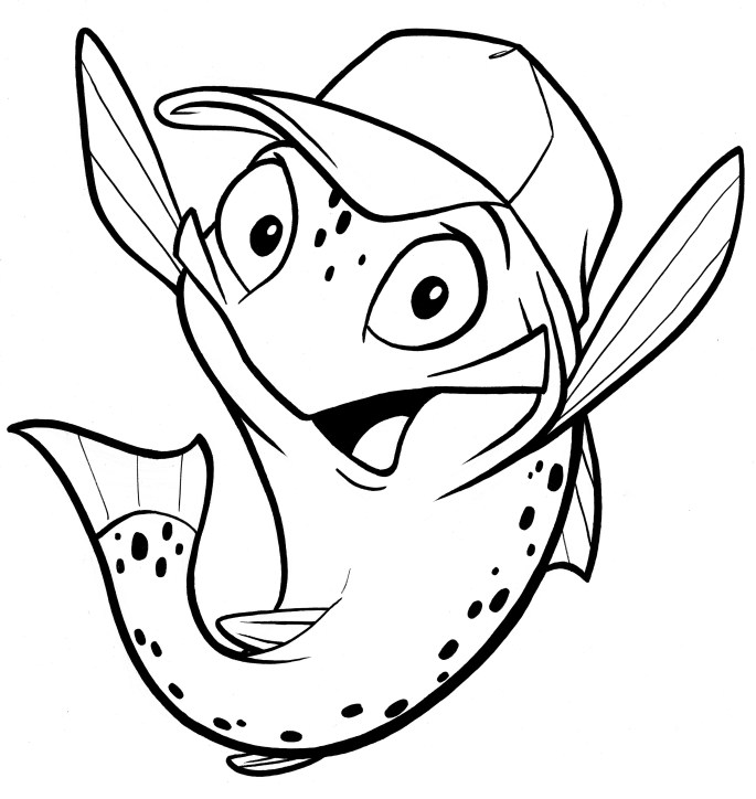 Miketrout ltbu cartoon outline i love mike trout for Cartoon fish drawing