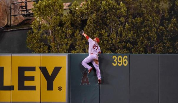Mike Trout robs home run