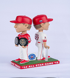 2017 Mike Trout MVP All-Star Double bobblehead