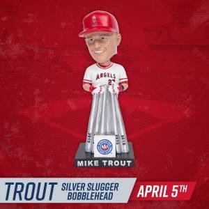 Mike Trout Silver Slugger bobblehead 2019
