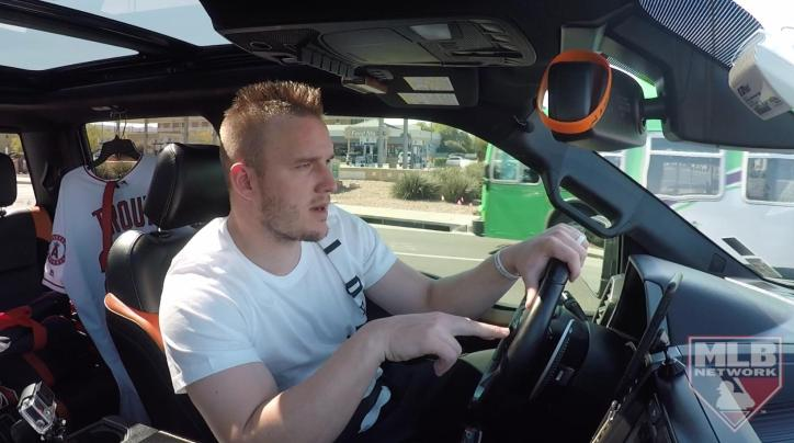 Mike Trout ride along interview