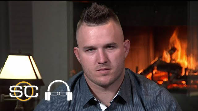 Mike Trout reacts to MVP award